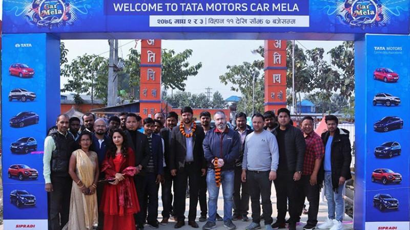 जनकपुरमा टाटा मोटर्सको कार मेला शुरु