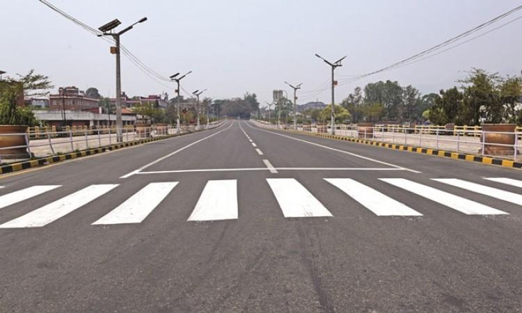 लकडाउनमा काठमाडौंको २८ किमी सडकमा 'मार्किङ'_img
