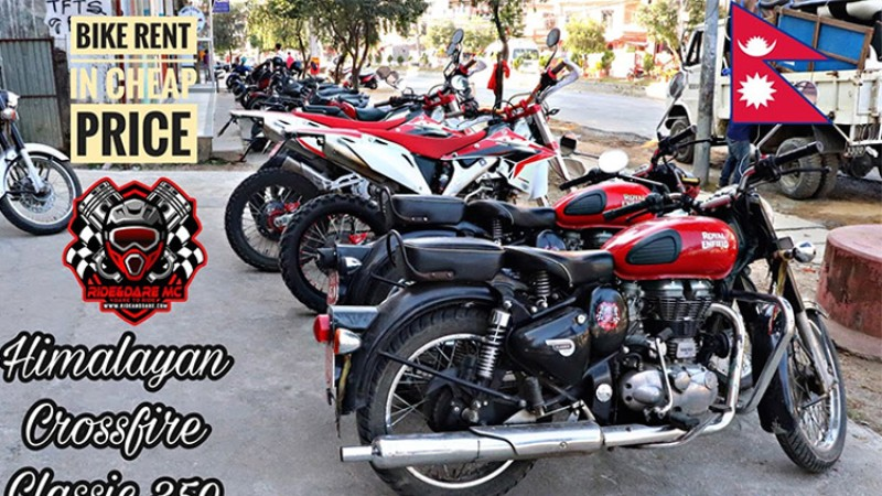 पोखरा घुम्न दैनिक २ हजारदेखि भाडामा मोटरसाइकल पाइने